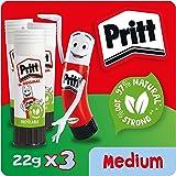Pritt 1639445 - Barra de pegamento, Pack de 3 x 22g