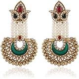 I Jewels Zinc Alloy pearl Earrings For Women's & Girls, Multicolored