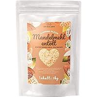 Mandelmehl entölt, 1kg echtes Mandelmehl zum Backen, proteinreiches Almond Flour, glutenfrei, vegan
