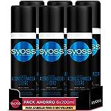 Syoss - Acondicionador Bifásico Sin Aclarado En Spray para pelo fino o sin volumen - Volumen - 6uds de200ml (1.200ml) - Hasta
