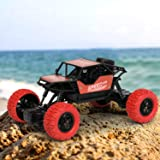 CADDLE & TOES Car Monster with Remote Control Multi Channel(Multicolor)/U Shape Remote/Forward-Backward/Left-Right (red)