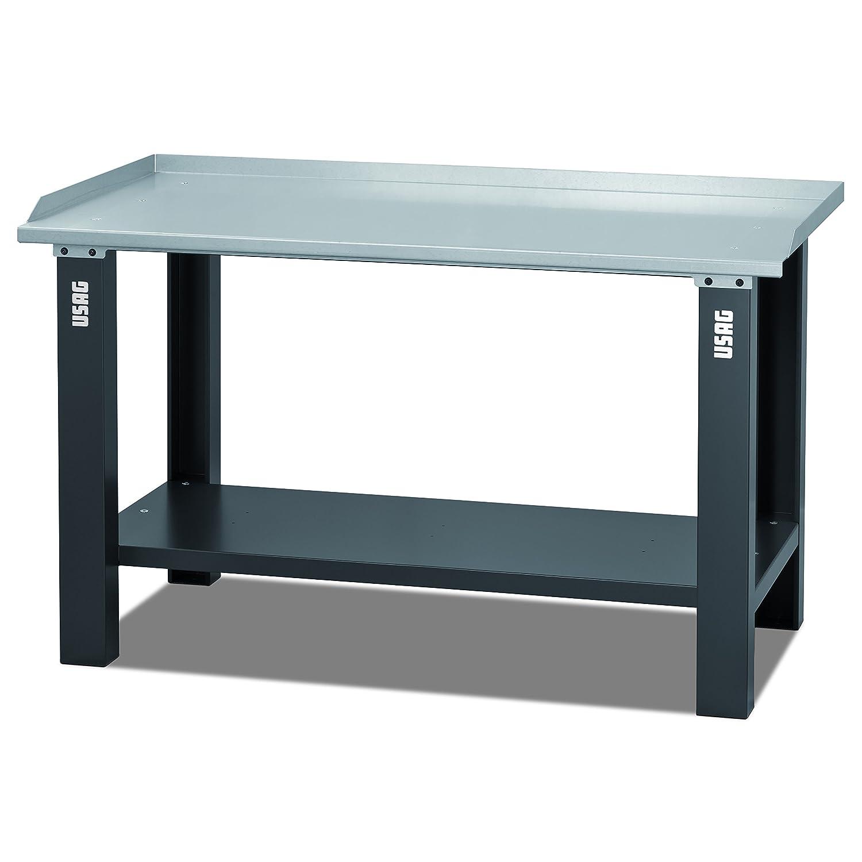 USAG 05060011 506 A2 Banco da Lavoro con Piano in Acciaio: Amazon ...