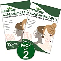 Urban yog Acne Pimple Patch - Invisible Facial Stickers cover with 100% Hydrocolloid, Pimple / Acne Absorbing patch…