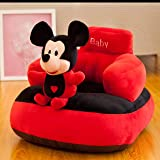 Homescape Baby Soft Plush Cushion Baby Sofa Seat Or Rocking Chair for Kids(Use for Baby 0 to 2 Years)-Red and Black(Top…