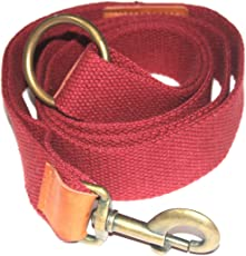 Jainsons Leash RED 1.50 inch Cotton Canvas Leash (Extra Large)