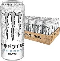 Monster Energy Ultra White mit leichtem Zitrusgeschmack - Zero Zucker & Zero Kalorien, Energy Drink Palette, EINWEG Dose...