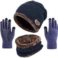 Berretto Unisex-Adulto, Cappelli Invernali Uomo Cappelli da Le Donne da Uomo Unisex Invernali Sciarpa Uomo Guanti…