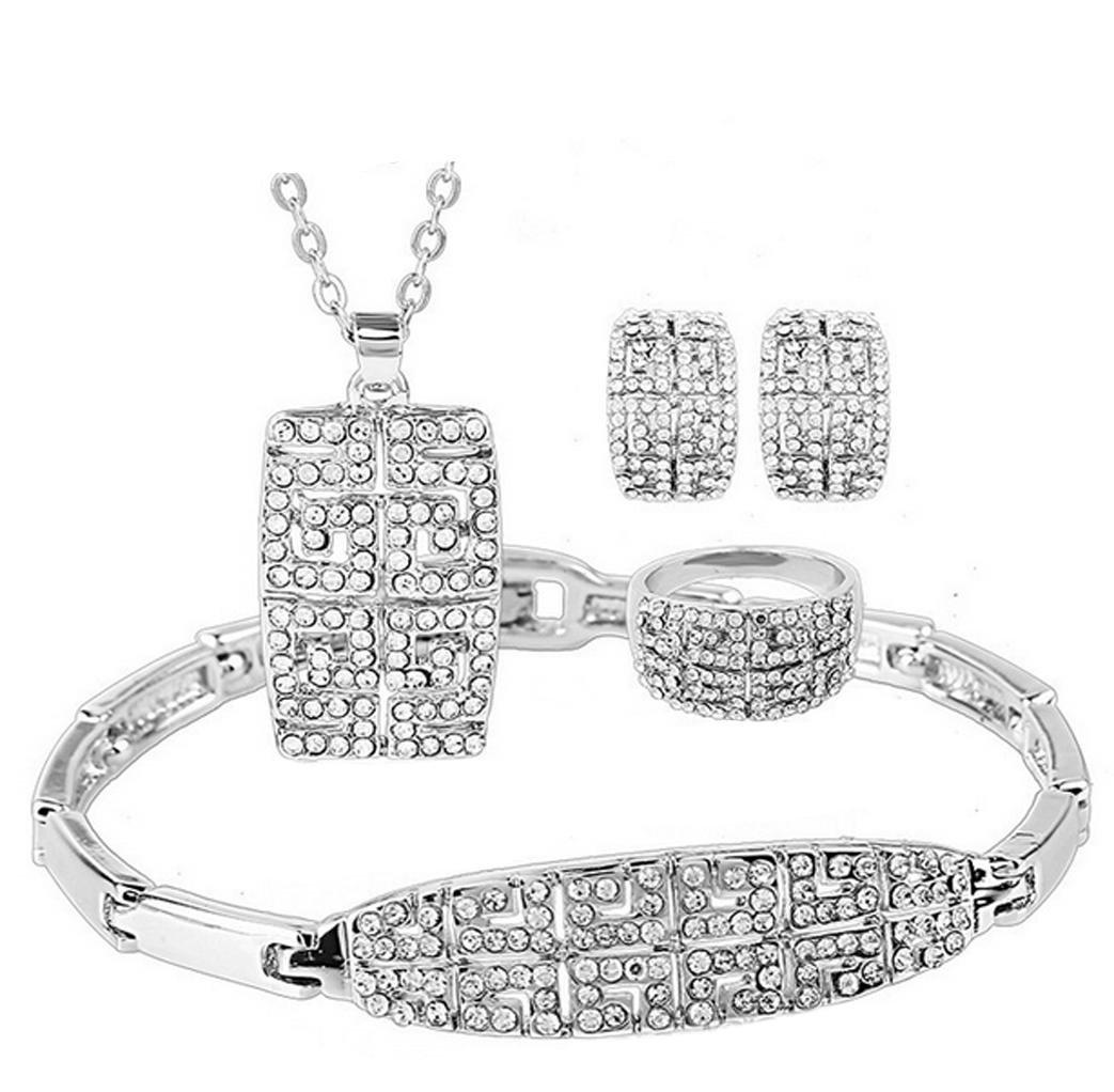 Wangjianfeng Tutti gli orecchini della collana delle donne del diamante del diamante fissano l'insie