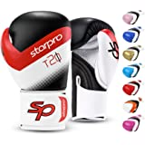 Starpro T20 Boxing Gloves - 8oz 10oz 12oz 14oz 16oz - Vegan Leather Gloves for Training Sparring with Waterproof Lining - Bre