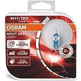 OSRAM NIGHT BREAKER LASER H11, next generation, 150% more brightness, halogen headlamp, 64211NL-HCB, 12V, passenger car, duo