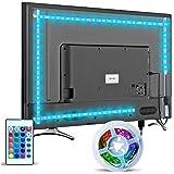 Striscia LED TV Retroilluminazione, Hoobabuy 3m 9.8 feet Striscia LED USB Alimentata con Telecomando e 16 Colori e 4 Modalità