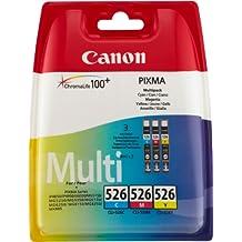 Canon CLI-526 C/M/Y Tintenpatronen (Multipack 9ml), cyan/magenta/gelb