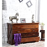 shagun arts wooden standard chest of drawer for bed room | wooden standard storege furniture with 4 drawers | solid wood…