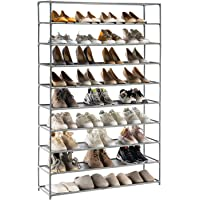 YOUDENOVA Étagère à Chaussures 5-10 Niveaux Range-chaussures pour 50 Paires Meuble de Rangement Polyvalent 150x93x30…