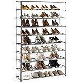 YOUDENOVA Étagère à Chaussures 5-10 Niveaux Range-chaussures pour 50 Paires Meuble de Rangement Polyvalent 150x93x30 Armoire