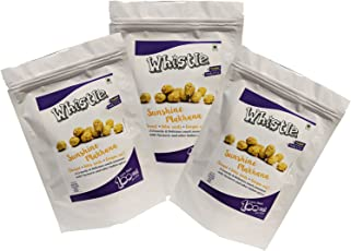 Whistle Roasted Makhana, Sunshine, 60gms/Pack (Pack of 3) Gluten Free, Vegan, Crunchy, Healthy Snack