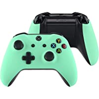 eXtremeRate Soft Touch Mint Green Top Shell Front Housing Faceplate Replacement Parts with Side Rails Panel for Xbox One…