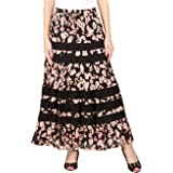 COTTON BREEZE Women Maxi Skirt (FP165_Black_Free Size)