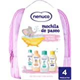 Nenuco Pack Bebé Mochila de Paseo color rosa, contiene colonia, jabón, champú y leche hidratante, 1 Paquete con 4 productos x