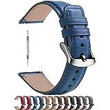 Fullmosa Bracelet de Montre 18mm/20mm/22mm en Cuir doux, Bracelet Montre connectée Homme Femme avec Fermoir en Forme D la Ser