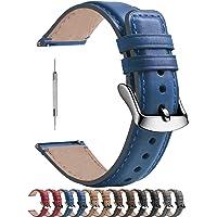 Fullmosa Bracelet de Montre 18mm/20mm/22mm en Cuir doux, Bracelet Montre connectée Homme Femme avec Fermoir en Forme D…