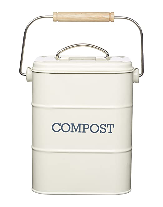 biomüll mülleimer emaile weiß kompost biotonne