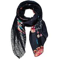 Desigual Foul_Indi Chintz Patch Sciarpa di Moda, Black, U Donna