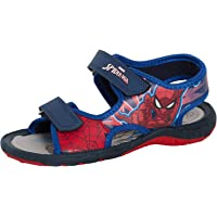 MARVEL Spiderman Boys Sandals Kids Open Toe Easy Touch Fasten Summer Beach Pool Shoes