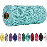 3mm x100m Katoen Macrame Cord String, Plant Pot Hanger Craft Breien Macrame String Cord DIY Craft Cord voor Opknoping, PlantH