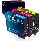 Zambrero 603 XL Couleur Cartouche d'encre compatible pour Epson 603 603XL avec Epson Workforce WF-2810 WF-2850 WF-2830 WF-283