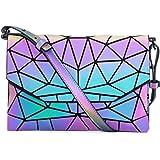 Chic Boutique De Mode Geometrische leuchtende Geldbörsen Handtaschen Holografische Crossbody Schultertasche