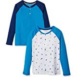 Amazon Essentials Camisetas Henley de Manga Larga Niños