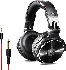 OneOdio DJ Kopfhörer, Studiokopfhörer, Over-Ear Headset, Adapter-frei Geschlossener Headphone 6,3mm & 3,5 mm Stereo / Studio Monitor & Mixing / Teleskoparme mit Skala / neuester 50mm Neodym Treiber, Standard Version