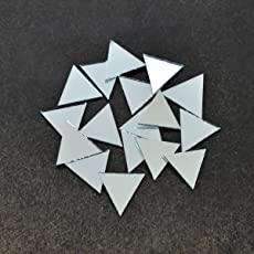 Embroiderymaterial Shisha Mirrors for Embroidery and Craft Purpose,Triangle Shape, 15MM, 100Pcs