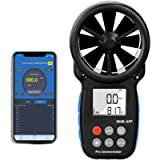 Digital Bluetooth Anemometer Handheld, Holdpeak Wireless Anemometer Wind Speed Meter Measuring Wind Speed/Temperature…