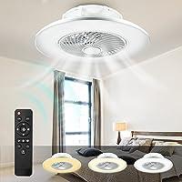 LED Fan Plafonnier, Moderne Dimmable Ventilateur Au Plafond Avec Lampe 48W Lustre De Ventilateur Silencieux Chambre…