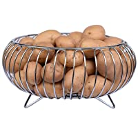 Primax Heavy Stainless Steel Vegetable and Fruit Bowl Basket - Nickel Chrome Plated