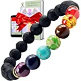 Bracelet 7 Chakras Reiki en Pierres Naturelles et Semi Précieuses Fait Main - EBOOK 7 chakras 70 pages - Bracelets Perles Fai