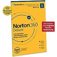 Norton 360 Deluxe 2021   5 Geräte   Antivirus   Unlimited Secure VPN & Passwort-Manager   1 Jahr   PC/Mac/Android/iOS…