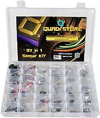 Quad Store(TM) - 37 in 1 Sensor Modules Kit for Arduino Uno R3, Mega 2560, Raspberry Pi with box
