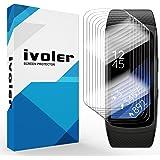 iVoler [Pack de 8] Protection écran Compatible avec Samsung Gear Fit 2, Couverture Complète [Liquide Installation] [Anti-Rayures] [sans Bulles] TPU Film Protecteur HD Transparent