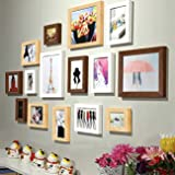Painting Mantra Art Street - Colorful Memories Set Of 15 Individual Photo Frame - Mix Color (3Pc-8X10,8Pc-6X8, 4Pc-4X6 Inch)