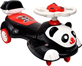 Sita Ram Retails Panda Magic Car Ride on Toy with 30kg Weight capacity, 2 to 8 Years (Black and White)