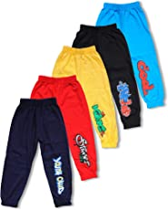 T2F Boys' Track Pant (Pack of 5, Multicolour)