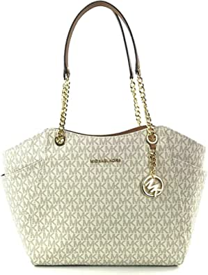 Michael Kors Jet Set Travel Saffiano Borsa a tracolla in pelle media
