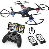EACHINE E38 Drones con Cámara para Adultos LED Tiempo de Vuelo Largo WiFi FPV 720P 120° HD Video Drone para Principiantes Dro