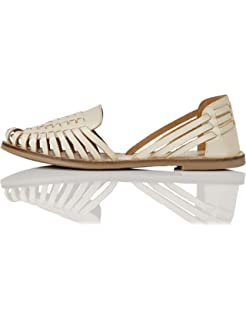 Greatonu Damen Gladiator Sandalen Vorne Geschlossene