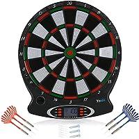 Yosoo Elektronische Dartboard, Dartboard Dart Scheibe, Elektronisch Dartautomat mit LCD-Score-Anzeige und 6 Dartpfeile…