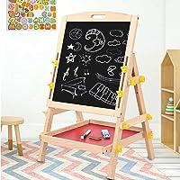 Ausla Planche à Dessin Double Face pour Enfants, Chevalet de Dessin Portable Réglable en Hauteur, Tableau de Peinture…