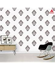 Arhat Stencils Glossy PVC Damask Wall Stencils ASR-E100